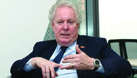 Jean Charest in an interview with Gulf Times at the Canadian embassy in Doha. PICTURE: Jayaram