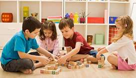 LEARNING: Parents are advised to introduce their children to tabletop games because they promote a r