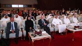 HE the Minister of Public Health Dr Hanan Mohamed al-Kuwari along with other dignitaries at the even