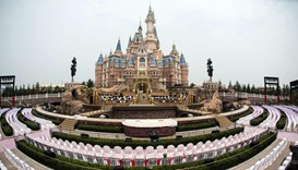 The Enchanted Storybook Castle at Shanghai Disney Resort in Shanghai