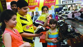 High demand has been seen for footwear for all ages before Eid holidays.