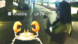 A player caught Krabby.