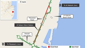 Mesaieed Road traffic diversion