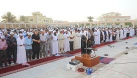 Eid prayer at Ali Bin Ali Mosque
