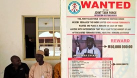 A poster advertising for the search of Boko Haram leader Abubakar Shekau