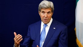 US Secretary of State John Kerry speaks during an event in Abuja, Nigeria.
