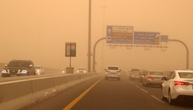 Dust storm envelops Doha
