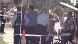 Australian police at the crime scene
