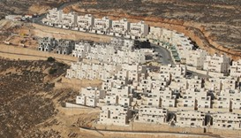 A view shows a construction site in the West Bank Jewish settlement