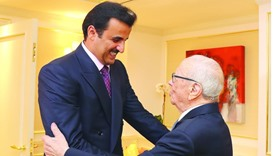 HH the Emir Sheikh Tamim bin Hamad al-Thani with Tunisian President Beji Caid Essebsi