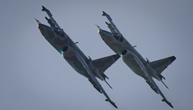 Sukhoi SU-25 aircraft performing