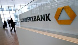 Visitors at Commerzbank headquarters