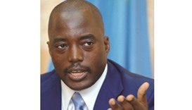 Kabila: denies planning to retain power.