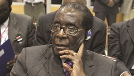 Mugabe: was presiding over a university graduation ceremony.