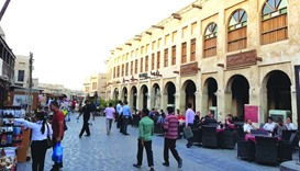 Coffee shops and restaurants at Souq Waqif start receiving an increasing number of visitors