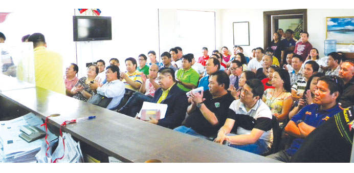Dozens of Filipino community leaders have vowed to support new UFOQ officials. PICTURE: Joey Agui