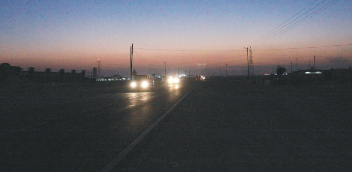 The unlit 7km stretch between Mesaimeer and Wukair.
