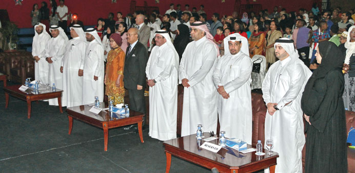 Officials and dignitaries at the event.