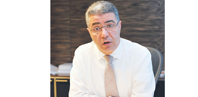 Jallad speaking in an interview with Gulf Times yesterday. Picture: Sami Althalathini
