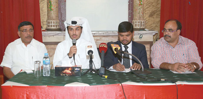 Lt Shaheen Rashid al-Atheeq al-Dosari addressing the press conference in the presence of Abdul Nasse