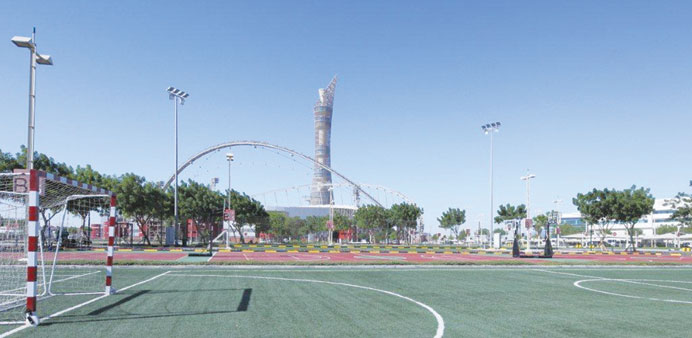 The new sports facilities at Aspire Zone Foundation include mini football fields and basketball and