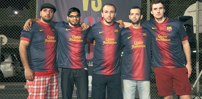 Winners of signed FC Barcelona jerseys.