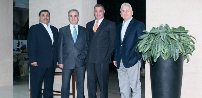 Andrew Stevens with CEOs of Commercial Bank's alliance banks in Istanbul recently.
