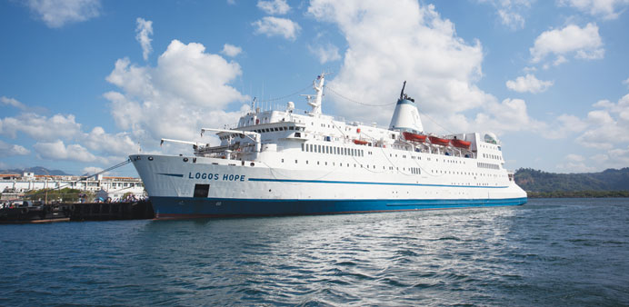 Logos Hope, currently in Colombo, will dock at Doha Port from October 10 to 21.