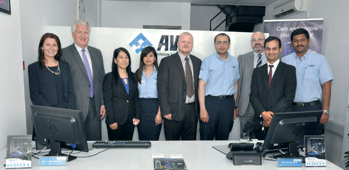 The AVR team at the launch.