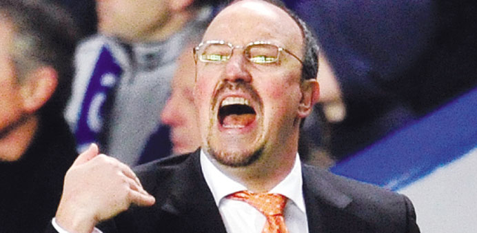 HECKLED BY FANS: Rafa Benitez