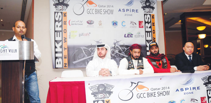 The GCC Bike Show organisers announcing the event yesterday.