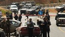 Israeli security forces gather at the scene of a reported a car-ramming attack